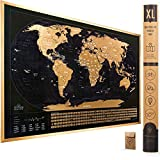 XL Scratch Off Map of The World with Flags -...