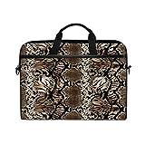 RXYY - Funda para portátil de 14 a 14,5 pulgadas, diseño abstracto de piel de serpiente, funda protectora para ordenador portátil, bolsa de hombro, bolsa de transporte para oficina, mujeres y hombres