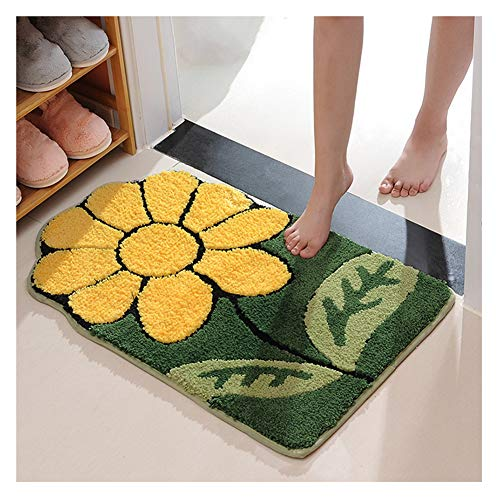 XiinxiGo Badteppich viele schöne Badematten Sonnenblume zur Auswahl Badvorleger sehr weich und rutschfest waschbar und schnelltrocknend,Sonnenblume,60 * 90 cm
