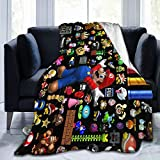 LEEKOTECH Super-Mario Blanket Throw Blanket Ultra Soft Fleece Blanket for Home Travel Couch Sofa Warm Cozy Fuzzy Blanket for Kids Adults 50'X40'
