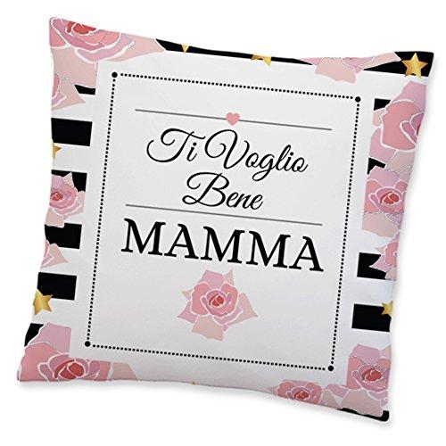 Babloo Cuscino Idea Regalo Festa della Mamma Ti Voglio Bene Mamma 40x40 cm