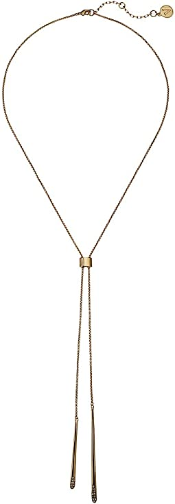 "18"" Double Bar Slider Necklace"