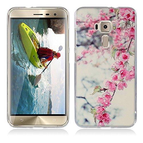 FUBAODA für Asus Zenfone 3 Hülle, für Asus Zenfone ZE552KL Hülle, 3D Erleichterung Schöne Blume Muster TPU Hülle Schutzhülle Silikon Hülle für Asus Zenfone 3 ZE552KL