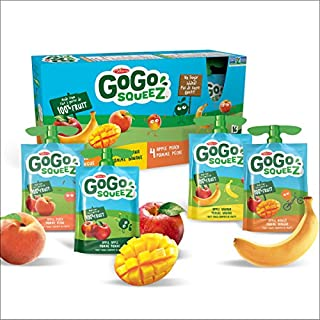 Go Go Squeez Fruit Sauce, Variety Pack (Apple/Apple Peach/Apple Mango/Apple Banana), 1,440g per Unit (16 X 90g per Pouch) (B074812LR1) | Amazon price tracker / tracking, Amazon price history charts, Amazon price watches, Amazon price drop alerts