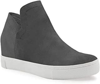 Women's Hidden Wedge Sneakers High Top Slip On Wedge Booties Sneakers Wedges Shoes