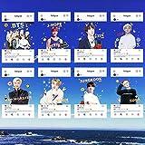 HughFan 8pcs Kpop BTS Photocards, Bangtan Boys Karte Transparent Postkarte Lomo Karten Fotokarten, Gift for A.R.M.Y Fans, 8.7x5.5cm