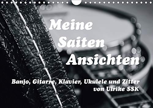 Meine Saiten Ansichten - Banjo, Gitarre, Klavier, Ukulele und Zitter von Ulrike SSK (Wandkalender 2021 DIN A4 quer)