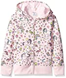 Spotted Zebra Girls' Kids Fleece Zip-Up Sweatshirt Hoodies, Unicorn, Small