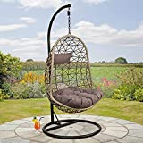 Great Gardens Cocoon Egg Chair Swing Rattan Wicker Effect Weave holds Up To 120 Kgs