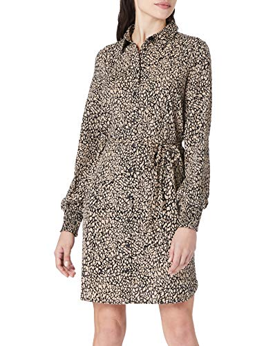 PIECES PCGILBERTA LS Shirt Dress BC Vestito, Nero, M Donna