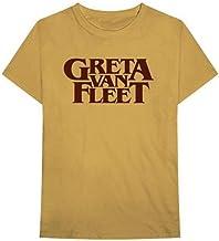 EU Greta Van Fleet Camiseta Negra con Logo