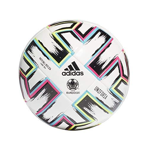 adidas Herren Uniforia League Sala Fußball Ball, White/Black/SIGGNR/BR, 3