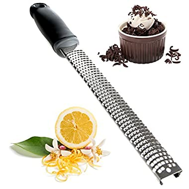 Cheese Grater Zester Shredder – Great for Chocolate, Lemon, Ginger, Garlic, Parmesan, Coconut, Potato, Citrus, Hard Cheeses & Spices by Zulay Kitchen