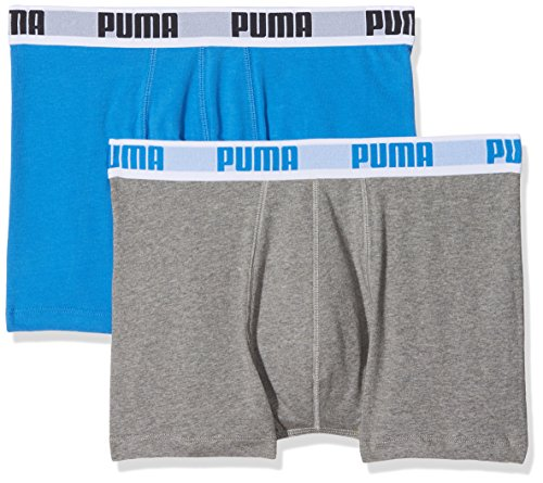 Puma Herren Boxershorts Basic 2er Pack, blue / grey, S, 521015001