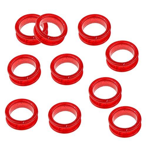 F Fityle 10x Insertos de Anillo de Dedo de Tijeras para Peluquería Tijeras de Peluquero - Rojo