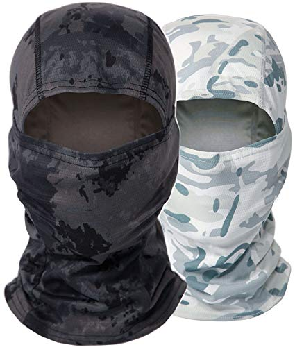 Camo Balaclava Full Face Mask, UV Protect Dust Wind Breathable Neck Warmer Balaclava, Hunting Gear, Outdoor Sports Headwear for Men Women Motorcycle Ski Cycling