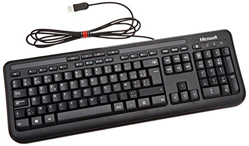 Microsoft Wired Keyboard 600, BE, AZERTY, Con cables, USB, AZERTY, 60 MB, USB, CD-ROM, Windows Vista/Windows XP (teclado AZERTY) [importado de Francia]