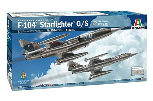 ITALERI 2514S - 1:32 F-104G/S - RF-104G Starfighter , Modellbau, Bausatz, Standmodellbau, Basteln, Hobby, Kleben, Plastikbausatz, detailgetreu