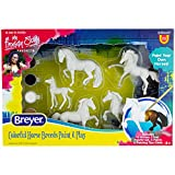 Breyer Horses Stablemates Horse Crazy Colorful Breed Paint Set | 5 Piece Set | 1:32 Scale | Model #4234