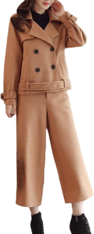Chenshiba-AU Womens Leg Pants Career Dress Fashion Short Harem Loose Fit Peacoat