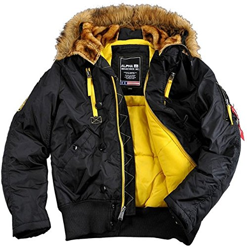 Alpha Industries PPS N2B Uomo Giacca Parka giacca invernale 30087 Nero Black