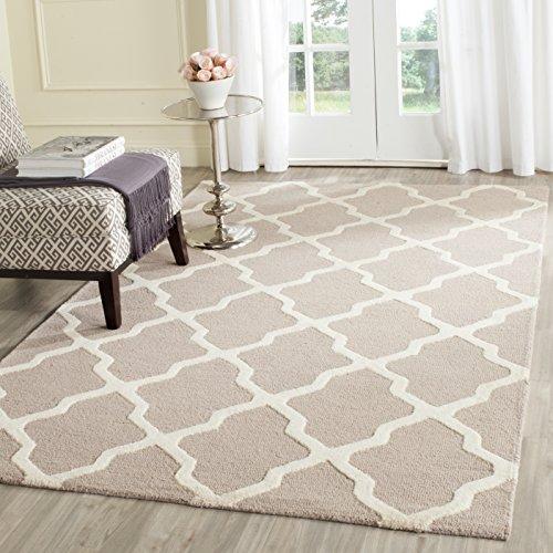 Safavieh Strukturierter Teppich, CAM121 Handgetufteter Wolle, 152 X 243 cm, Beige / Elfenbein