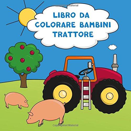 Libro da colorare bambini trattore (2 anni)