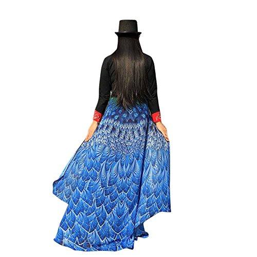 Pfau Flügel Schals, VEMOW Frauen 197 * 125CM Mehrfarbig Weiches Gewebe Fee Damen Nymph Pixie Halloween Cosplay Weihnachten Cosplay Kostüm Zusatz