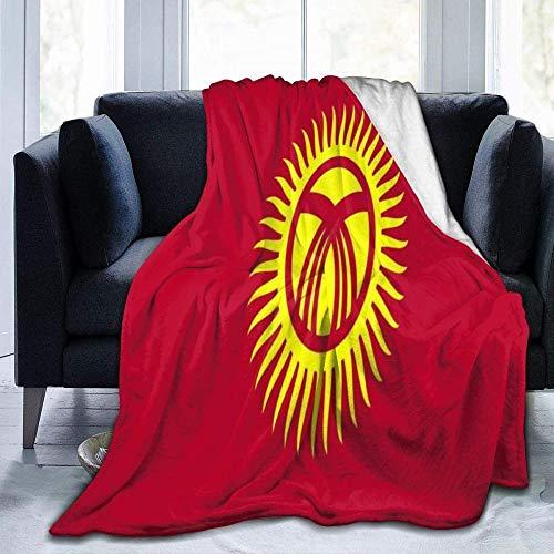YuLiZP Decke Wohn Kuscheldecken,Fleece Decke Werfen Warme Decken Für Bett Couch Stuhl Wohnzimmer Ganzjahresdecke Für Bett Couch Sofa Flagge Von Kirgisistan 80x60 inch