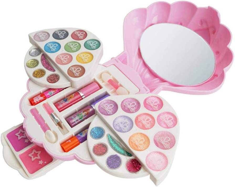 Washable Popular product Real Makeup Toy Set Non Max 41% OFF Kit Toxic 4 Face Beauty