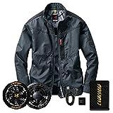 バートル エアークラフト ブルゾン・黒ファン・12VバッテリーセットAC1051 インディゴ L
