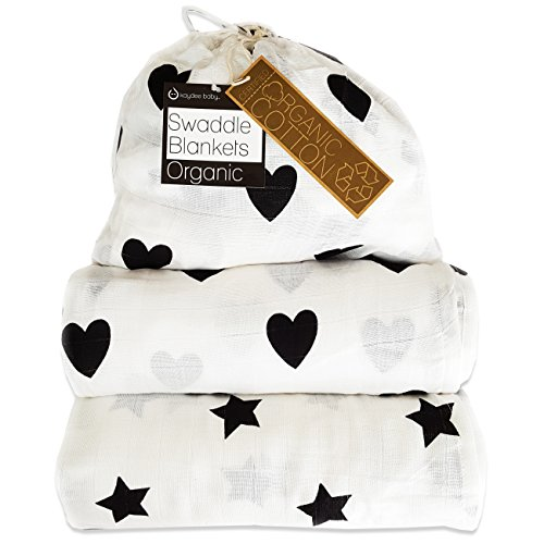 Product Image of the Kaydee Baby Organic Muslin Cotton Swaddle Blankets - Set of 2-47x47 Inch Large...