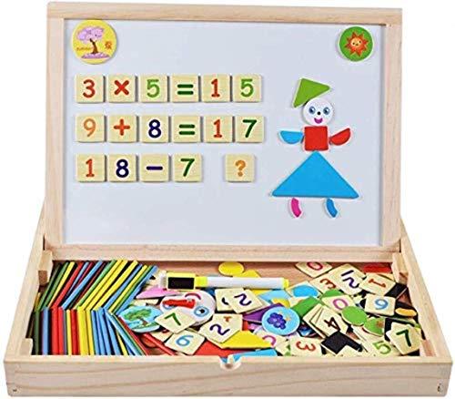 Children's schildersezel Magnetic tekentafels kinderen Pop onderwijs speelgoed for kinderen Doodle Doodle Board for Educational magnetische puzzel met klok Cognitieve houten speelgoed en tekenen Schri