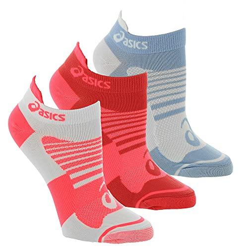 ASICS Women's Quick Lyte Plus 3-Pack, Blazing Coral/Mist, L