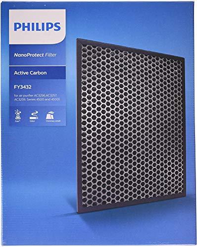 Philips FY3432/10 Filtro NanoProtect para purificador AC3256/10, Negro