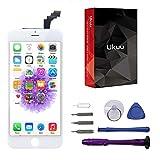 ukuu Pantalla Táctil LCD Reemplazo de Pantalla para iPhone 6plus con Herramientas,Color Blanco (6Plus Blanco)