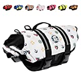 Paws Aboard Double Extra-Small Designer Doggy Life Jacket, Nautical print