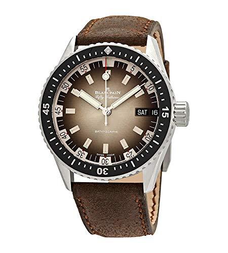 Blancpain Fifty Fathoms Bathyscaphe Jour Date 70s reloj automático gris Meteor Dial hombres 5052 1110 63A