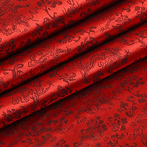 QDTD Tela De Raso Tela SatéN Vestidos Y Manualidades 120 cm De Ancho 1m Se Vende Por Metros Para Costura ElaboracióN De Ropa Ideal Para Elaborar Vestidos Para Bodas Graduaciones Raso(Color:vino tinto)