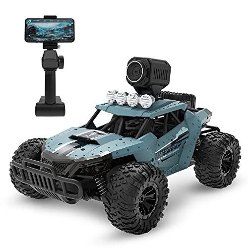 Nsddm 1/16 Camión de Control Remoto Escala, automóvil de Control Remoto 2.4G con cámara FPV de 720p HD, Terrain Off-Road Vehículos eléctricos de Alta Velocidad Monstruo Velocidad para Adultos
