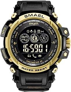 XBKPLO Men's Smart Watch Bluetooth LCD Pedometer Multifunction Digital Sports Wrist Watch Outdoor Waterproof Rubber Fashion Strap Android/iOS