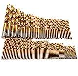 NEYORIKA ドリル 刃 ドリルビット 木工 鉄工用 ドリル刃 丸軸 1.5~10mm 99本 セット