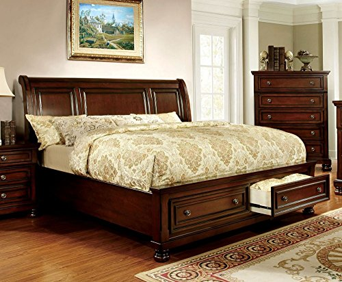 Buy Discount 247SHOPATHOME Platform bed, King, Cherry