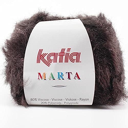 Lanas Katia Marta Ovillo de Color Marron Cod.110