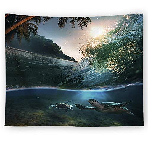 Alayth Tapiz para Pared Tapiz de impresión Digital Tapiz Manta de Pared antiestática Toalla de Playa Tortuga-200 * 150 cm