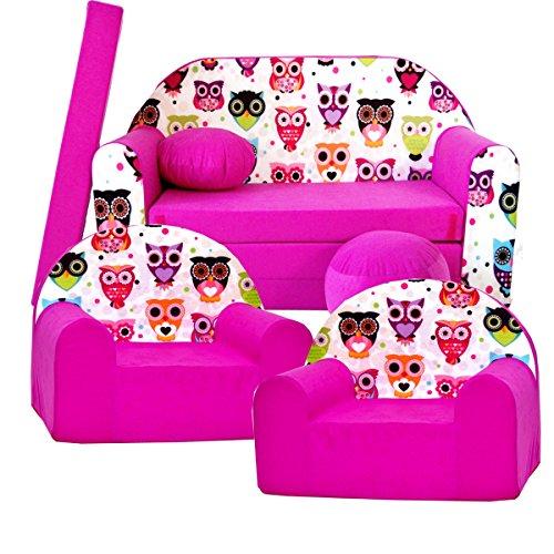 Barabike H17 kit de Lot, Mini pour Enfants, bébé Lot de 3 pour Enfants Canapé + 2 Fauteuil pour Enfant