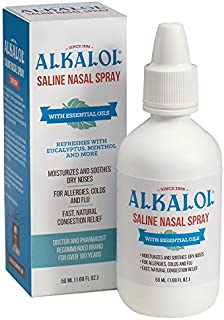 Alkalol Solution Saline Nasal Spray, 1.69 Ounce