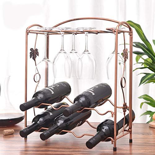 Botellero de mesa de metal, ideal para decoración del hogar y cocina, bar, bodega, gabinete, despensa