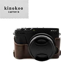 kinokoo Leather Half Case Bottom Case for Fujifilm X-E3 Bottom open-able  coffee