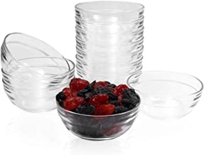 SZUAH Mini 3.5 Inch Glass Bowls Prep Bowls, 4.5 Ounce 135ml Serving Bowls Glass Clear Salad Bowl for Kitchen Prep, Dessert...